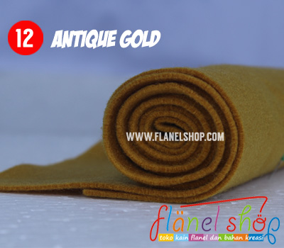 FLANEL POLOS WARNA ANTIQUE GOLD NO 12